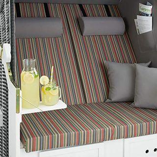 tectake 800805 Strandkorb Ostsee 2-Sitzer