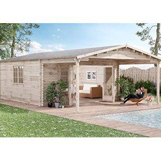 Alpholz Gartenhaus Nyborg-44 aus Massiv-Holz