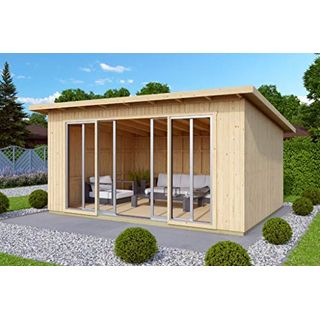 Alpholz Gartenhaus Johanna mit Schiebetür aus Massiv-Holz