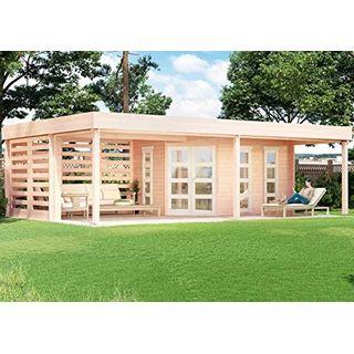 CARLSSON Massivholz Garten Blockhaus PANAMA-40