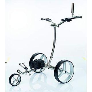 GolfTed GT-N Elektrischer Golftrolley Edelstahl