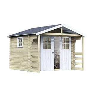 Alpholz Gartenhaus Lier 28 aus Massiv-Holz
