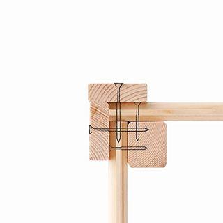 Hori Gartenhaus I Gerätehaus Henne aus Holz I nordische Fichte hellgrau