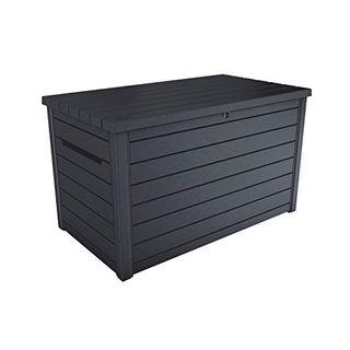 Koll-Living Auflagenbox Kissenbox Goliath XXL 870 Liter Farbe : Graphit l 100% Wasserdicht