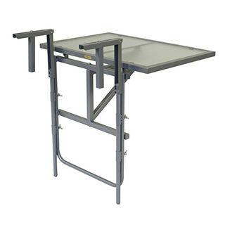 gartenmoebel-einkauf Balkonhängetisch 60x40cm Stahl Silber