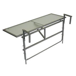 gartenmoebel-einkauf Balkonhängetisch 120x40cm Stahl grau