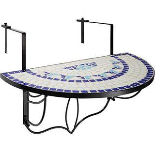 TecTake 800570 Balkonhängetisch zusammenklappbar