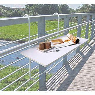 Dynamic24 Balkontisch Klapptisch Hängetisch 60x40cm Tisch Balkon
