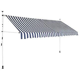 vidaXL Markise Einziehbar Gelenkarm 350 cm Sonnenschutz Klemmmarkise