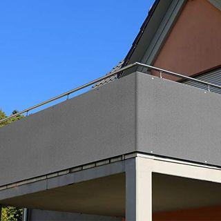 RATEL Balkon Sichtschutz 90 x 500 cm Balkonbespannung