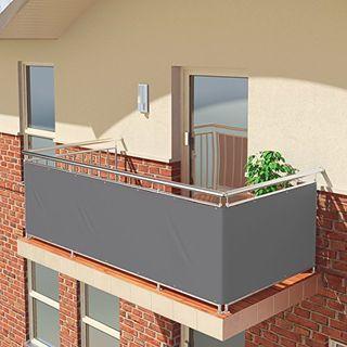 BALCONIO Balkon Sichtschutz wasserabweisend Balkonbespannung Balkonabdeckung