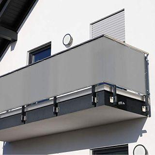 Balkonsichtschutz 600 x 90 cm grau
