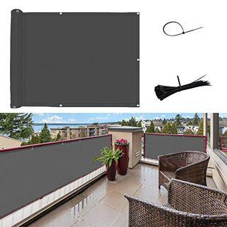 SUNNY GUARD Balkon Sichtschutz Balkonabdeckung PES UV-Schutz Windschutz