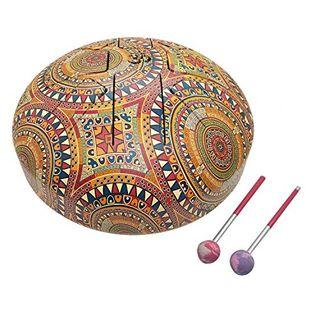 India Meets India 25,4 cm OM Tongue Drum Tank Drum Steel Percussion Hangpan