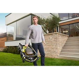 Ryobi RY18LMX40A-240 18V Cordless Lawnmower with 2 Batteries and Charger 40 cm Cutting Width