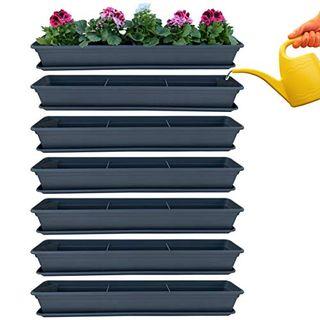 6er Blumenkasten Set Balkonkasten Pflanzkasten Anthrazit