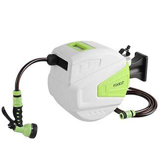 FIXKIT Wand-Schlauchtrommel Mobile Schlauchaufroller Automatischer Schlauchbox