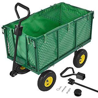 Juskys Metall Gartenwagen mit herausnehmbarer Plane 550 kg belastbar