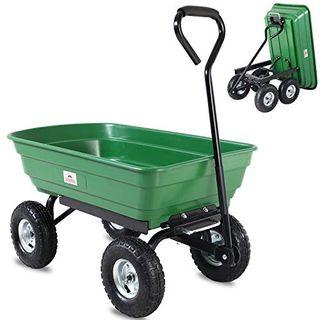 Deuba Gartenkarre 300 kg Kunststoff Kippfunktion Lenkachse Transportwagen