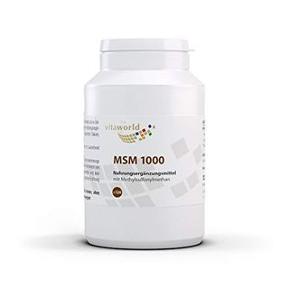 3er Pack Vita World MSM 1000 mg Hoch Dosiert 3 x 120 Tabletten Vegan
