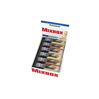 Weider 60% Proteinriegel 45g Mix Box 24 leckere Eiweißriegel