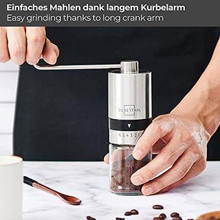 SILBERTHAL Manuelle Kaffeemühle Verstellbarer Mahlgrad