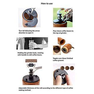 Akirakoki Manuelle Kaffeemühle aus Holz