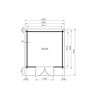 Alpholz Gartenhaus Anna-44 ISO