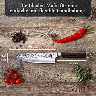 Kirosaku Premium japanisches Damast Küchenmesser 20cm