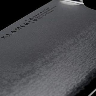 KLAMER Damast Hackmesser 16 cm aus echtem japanischem Stahl