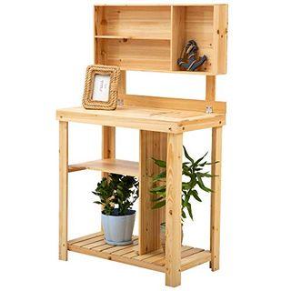 Outsunny Pflanztisch Gartenarbeitstisch für Garten Balkon und Terrasse