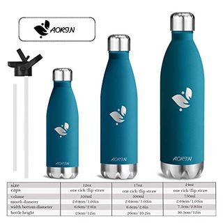Aorin Vakuum-Isolierte Trinkflasche Edelstahl 750 ml