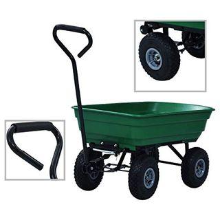 vidaXL Gartenwagen mit Kippfunktion Transportwagen