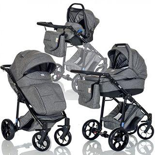 LCP Kids 3-in-1 Kombi-Kinderwagen Set ab Geburt