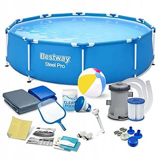 Polbaby Bestway 56679 Set Pool 305 x 76 cm Gartenpool Stahlrahmenbecken 16in1 Set