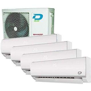 Multi 4x Split Wifi Klimaanlage Wandgerät 12+12+12+12