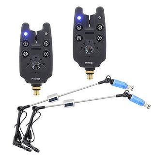 Karpfen Angeln Bissanzeiger und LED Angeln Swinger Set blau Farbe