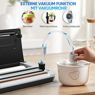 Toyuugo Vakuumiergerät für Trockene und Feuchte Lebensmittel Vakuumierer Folienschweißgerät