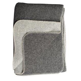 Steinbeck Doubleface-Decke Ökolana aus 100 % naturbelassener Schurwolle