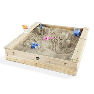 Plum quadratischer Kinder Holz Sandkasten