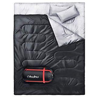 Ohuhu Groß Doppelschlafsack 220 x 150cm Erwachsene Deckenschlafsack