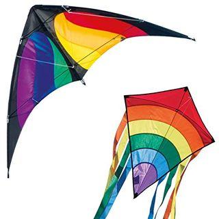 CIM Drachenset Lucky Power Hawk Rainbow & Beach Kite Rainbow
