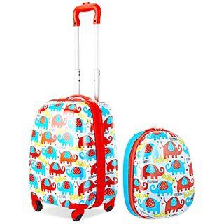GOPLUS Kinderkoffer 2 TLG mit Rucksack Kinder Reisekoffer Set