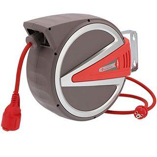 Federzug Kabel-Aufroller 15 m 3 x 2,5mm² IP44 230 Volt Automatik Wand