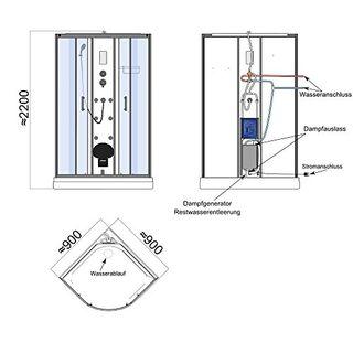 TroniTechnik Dampfdusche