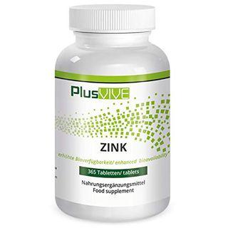 PlusVive Zink Tabletten hochdosiert: 25 mg reines Zink aus Zink Bisglycinate pro Tablette