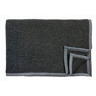 Flauschige dunkelgraue Wolldecke aus Lambswool