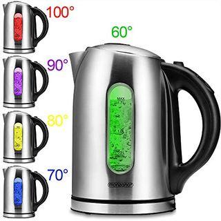 Monzana Wasserkocher Edelstahl 1,7 Liter