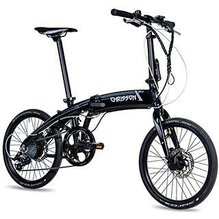 CHRISSON 20 Zoll E-Bike City Klapprad EF3 schwarz
