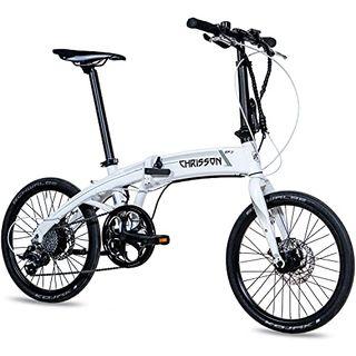 CHRISSON 20 Zoll E-Bike City Klapprad EF3 weiß